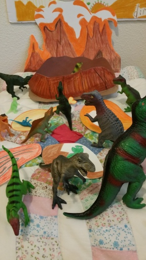 Meal time for the dinosaurs.