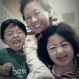 Taking a break from cooking and being silly together...