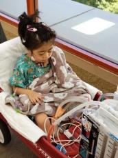 Wagon ride around the hospital recovery floor
