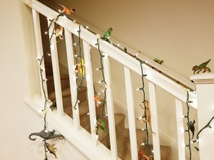 Dinosaur ornaments by Elliot.