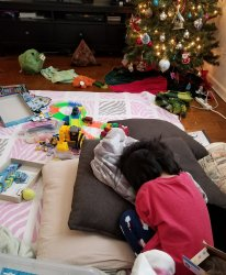 Even Santa's presents couldn't make her happy.