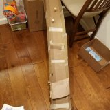 The cardboard marble run with cork and speed bump obstacle.