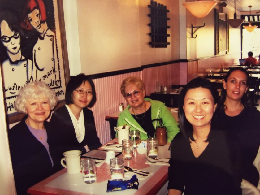 Dessert outing at Kitchenette with professor and study group after proposal defense in 2008